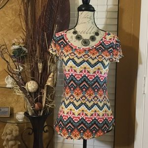 Tops - NEW Short Sleeve Aztec Design Top